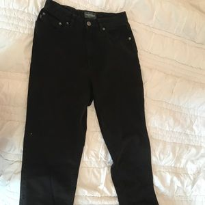 Ralph Lauren black mom jeans